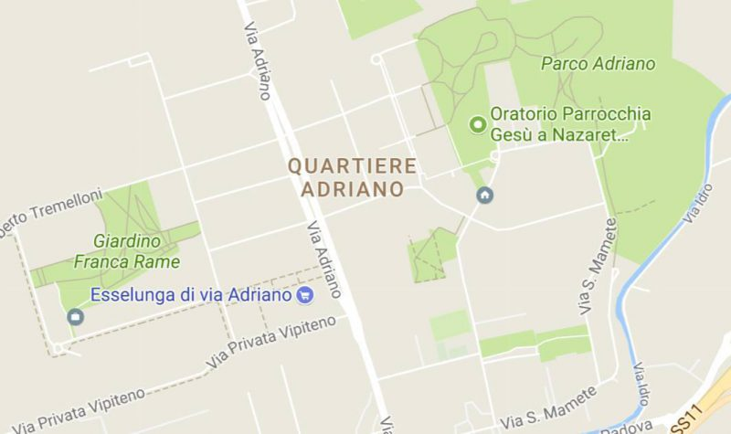 Mappa Quartiere Adriano Google Maps - Associazione ViviAdriano