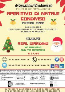Aperitivo di Natale 2019 Real Giardino locandina - Associazione ViviAdriano