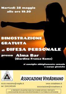 Difesa personale Alma Bar 2019 locandina - Associazione ViviAdriano