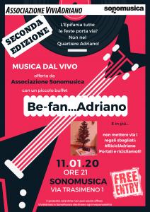 Evento Sonomusica gennaio 2020 locandina - Associazione ViviAdriano