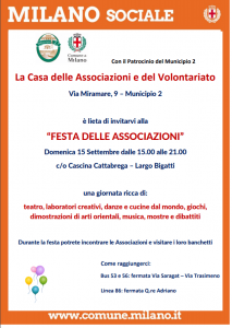 Festa delle Associazioni settembre 2019 Municipio 2 locandina - Associazione ViviAdriano (fronte)