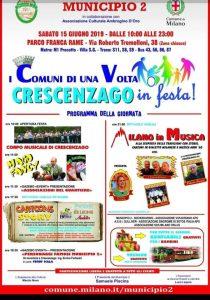 I Comuni di una Volta giugno 2019 Municipio 2 locandina - Associazione ViviAdriano