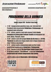 Panchina Rossa giugno 2019 locandina - Associazione ViviAdriano (retro)