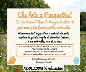 Pasquetta 2020 virtuale locandina - Associazione ViviAdriano