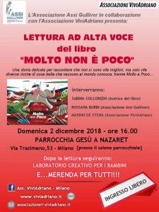 Presentazione libro ASSI Gulliver dicembre 2018 locandina - Associazione ViviAdriano