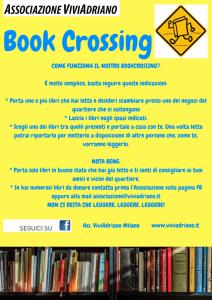 Regolamento Bookcrossing locandina - Associazione ViviAdriano