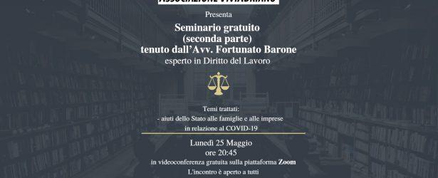 25 maggio: Avvocato Barone, aiuti dello Stato fase 2