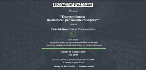 Seminario con Commercialista 15 giugno 2020 locandina - Associazione ViviAdriano