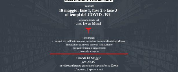 18 maggio: Fase 1, 2 o Fase 3 ai tempi del Covid19