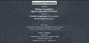 Seminario dialogo genitori e figli con psicologi 11 maggio 2020 locandina - Associazione ViviAdriano
