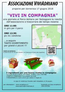 Vivi in Compagnia giugno 2018 locandina - Associazione ViviAdriano
