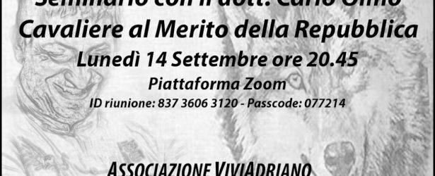 14 Settembre – Seminario con Carlo Olmo, Cav. al Merito della Repubblica